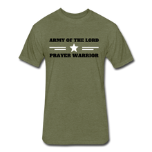 Load image into Gallery viewer, ARMY OF THE LORD-MEN'S PREMIUM Fitted Cotton/Poly T-Shirt by Next Level - heather military green