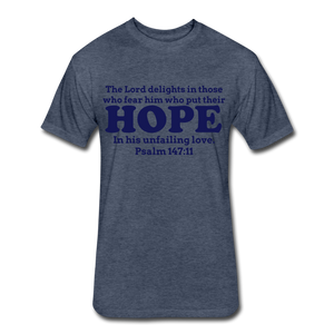 HOPE-Men's Fitted Cotton/Poly T-Shirt by Next Level - heather navy