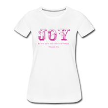 Load image into Gallery viewer, JOY-Women's Premium T-Shirt - white