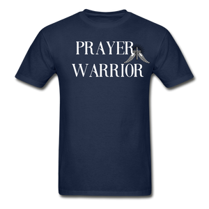 PRAYER-Hanes Adult Tagless T-Shirt - navy