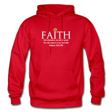 Load image into Gallery viewer, FAITH- Heavy Blend Adult Hoodie - red