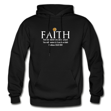 Load image into Gallery viewer, FAITH- Heavy Blend Adult Hoodie - black