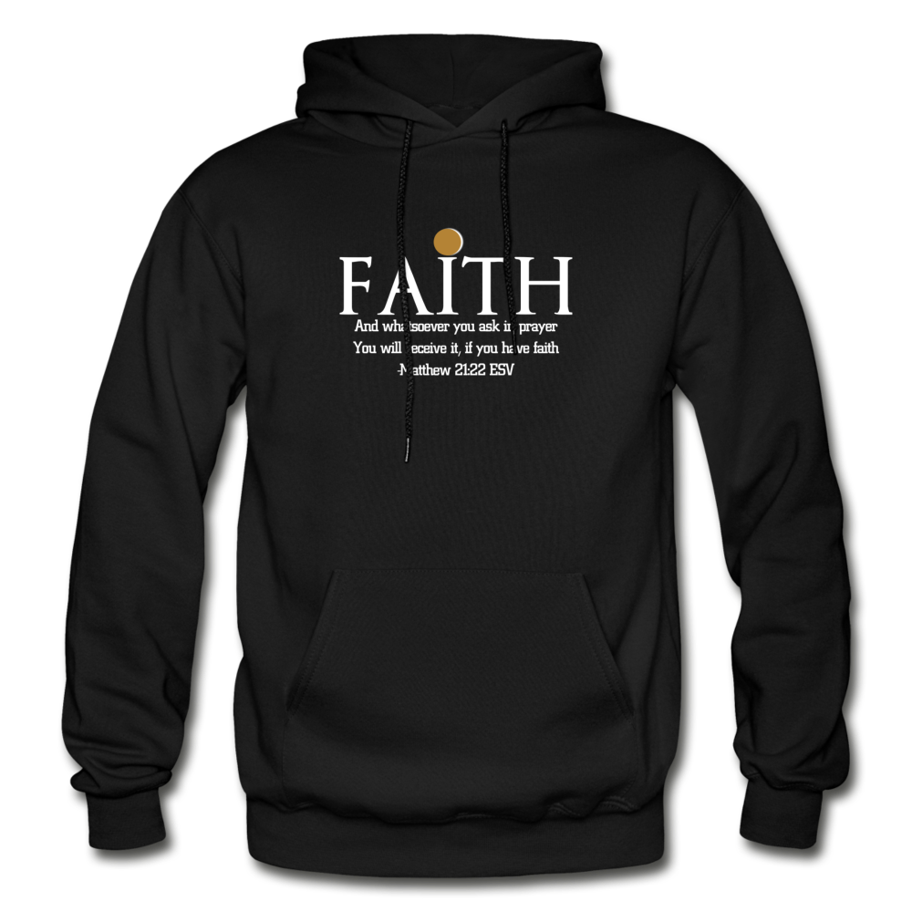 FAITH- Heavy Blend Adult Hoodie - black
