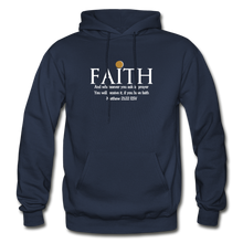 Load image into Gallery viewer, FAITH- Heavy Blend Adult Hoodie - navy
