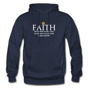 FAITH- Heavy Blend Adult Hoodie - navy
