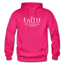 Load image into Gallery viewer, FAITH- Heavy Blend Adult Hoodie - fuchsia