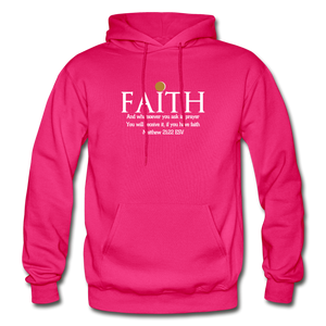 FAITH- Heavy Blend Adult Hoodie - fuchsia