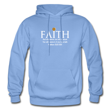Load image into Gallery viewer, FAITH- Heavy Blend Adult Hoodie - carolina blue