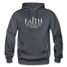 Load image into Gallery viewer, FAITH- Heavy Blend Adult Hoodie - charcoal gray