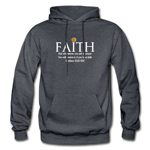 FAITH- Heavy Blend Adult Hoodie - charcoal gray