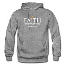 Load image into Gallery viewer, FAITH- Heavy Blend Adult Hoodie - graphite heather