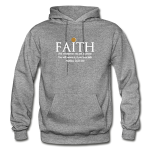 FAITH- Heavy Blend Adult Hoodie - graphite heather