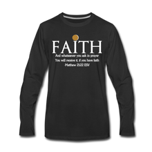 Load image into Gallery viewer, FAITH-WT-Men's Premium Long Sleeve T-Shirt - black