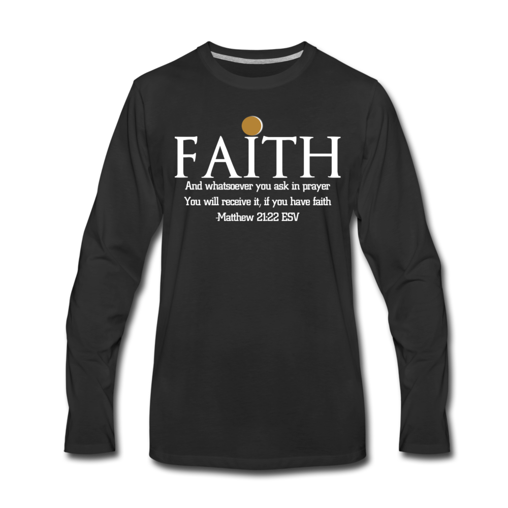FAITH-WT-Men's Premium Long Sleeve T-Shirt - black