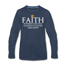 Load image into Gallery viewer, FAITH-WT-Men's Premium Long Sleeve T-Shirt - navy
