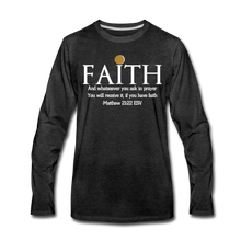 Load image into Gallery viewer, FAITH-WT-Men's Premium Long Sleeve T-Shirt - charcoal gray