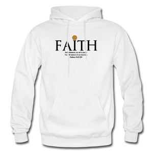 Faith Heavy Blend Adult Hoodie - white