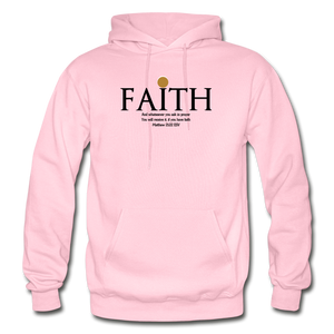 Faith Heavy Blend Adult Hoodie - light pink