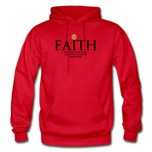 Load image into Gallery viewer, Faith Heavy Blend Adult Hoodie - red