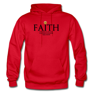Faith Heavy Blend Adult Hoodie - red