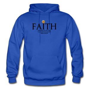 Faith Heavy Blend Adult Hoodie - royal blue