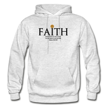 Load image into Gallery viewer, Faith Heavy Blend Adult Hoodie - light heather gray