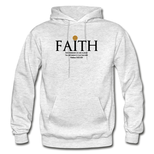 Faith Heavy Blend Adult Hoodie - light heather gray