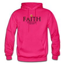 Load image into Gallery viewer, Faith Heavy Blend Adult Hoodie - fuchsia