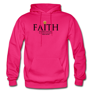 Faith Heavy Blend Adult Hoodie - fuchsia