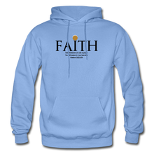 Load image into Gallery viewer, Faith Heavy Blend Adult Hoodie - carolina blue