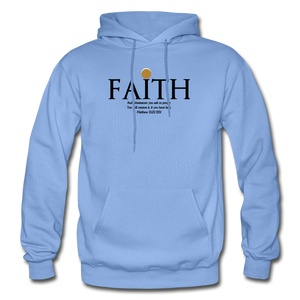 Faith Heavy Blend Adult Hoodie - carolina blue