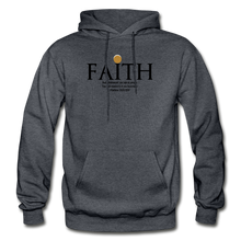 Load image into Gallery viewer, Faith Heavy Blend Adult Hoodie - charcoal gray