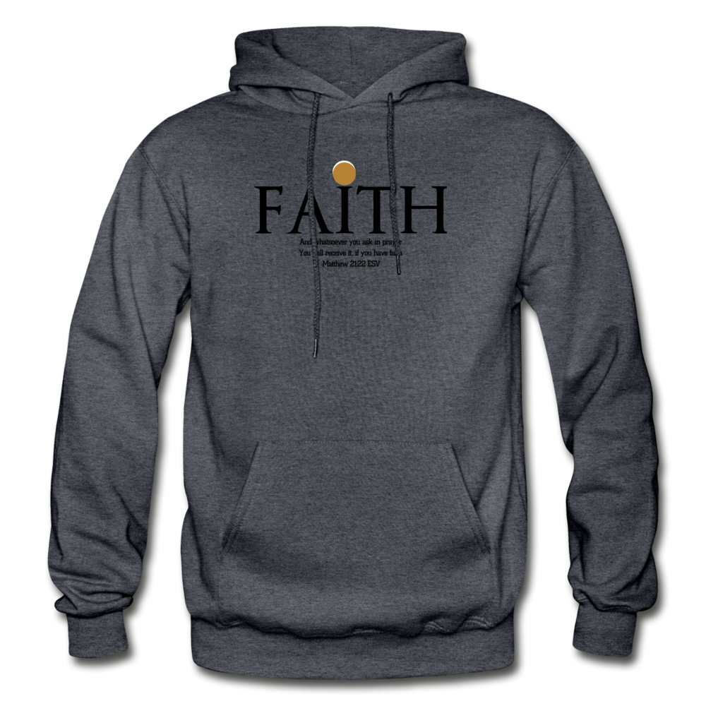 Faith Heavy Blend Adult Hoodie - charcoal gray