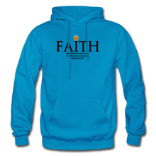 Load image into Gallery viewer, Faith Heavy Blend Adult Hoodie - turquoise