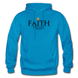 Faith Heavy Blend Adult Hoodie - turquoise