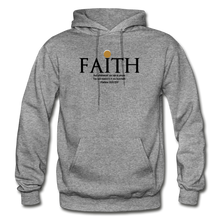Load image into Gallery viewer, Faith Heavy Blend Adult Hoodie - graphite heather