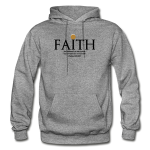 Faith Heavy Blend Adult Hoodie - graphite heather