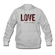 Load image into Gallery viewer, LOVE PINK-Women's Hoodie - heather gray