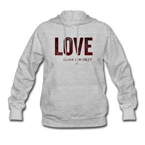LOVE PINK-Women's Hoodie - heather gray