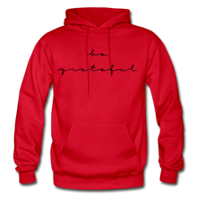 Load image into Gallery viewer, BE GRATEFUL- WOMEN'S Heavy Blend Adult Hoodie - red