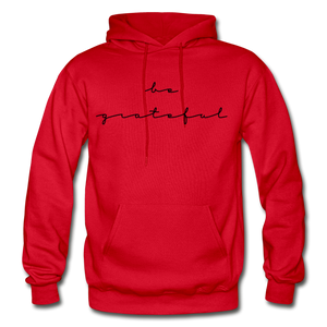 BE GRATEFUL- WOMEN'S Heavy Blend Adult Hoodie - red
