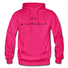 Load image into Gallery viewer, BE GRATEFUL- WOMEN'S Heavy Blend Adult Hoodie - fuchsia