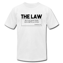 Load image into Gallery viewer, THE LAW-Unisex Jersey T-Shirt - white