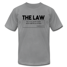 Load image into Gallery viewer, THE LAW-Unisex Jersey T-Shirt - slate
