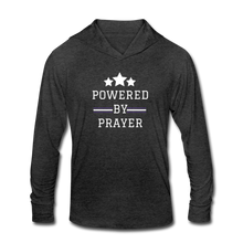 Load image into Gallery viewer, POWER-Unisex Tri-Blend Hoodie Shirt - heather black