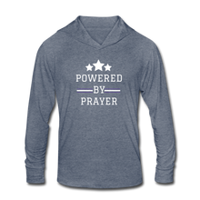 Load image into Gallery viewer, POWER-Unisex Tri-Blend Hoodie Shirt - heather blue