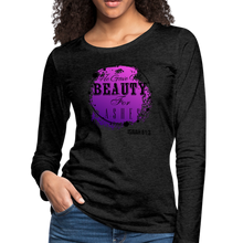 Load image into Gallery viewer, BEAUTY-Women's Premium Long Sleeve T-Shirt - charcoal gray