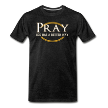 Load image into Gallery viewer, PRAY BIG & TALL-Men's Premium T-Shirt - charcoal gray
