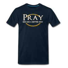 Load image into Gallery viewer, PRAY BIG & TALL-Men's Premium T-Shirt - deep navy