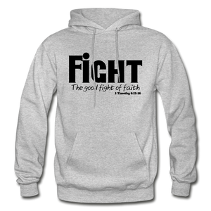 FIGHT-BIG & TALL Heavy Blend Adult Hoodie - heather gray